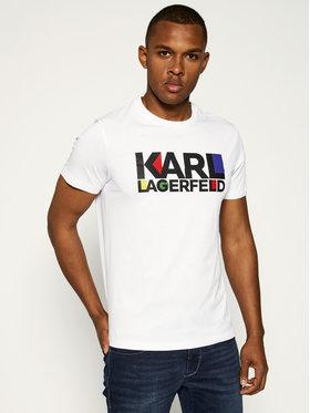 KARL LAGERFELD Tričko Crew Neck 755042 501224 Biela Regular Fit