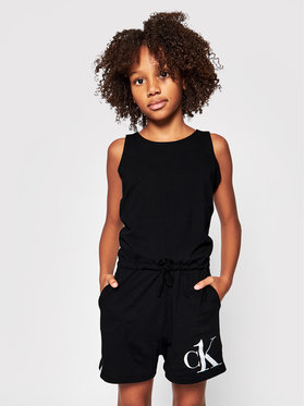Calvin Klein Swimwear Calvin Klein Swimwear Kombinezon Romper G80G800408 Czarny Regular Fit