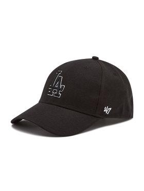 47 Brand 47 Brand Καπέλο Jockey Los Angeles Dodgers B-MVPSP12WBP-BKD Μαύρο