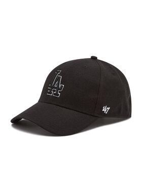 47 Brand 47 Brand Шапка с козирка Los Angeles Dodgers B-MVPSP12WBP-BKD Черен