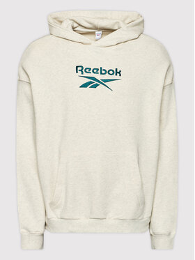 Reebok Reebok Bluza Classics Big Logo GS1738 Beżowy Oversize