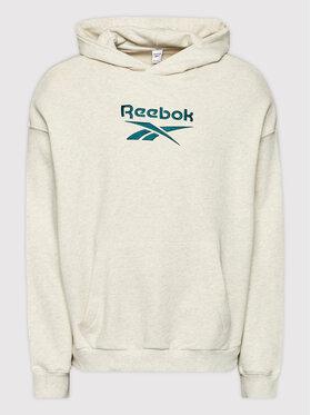 Reebok Reebok Mikina Classics Big Logo GS1738 Béžová Oversize