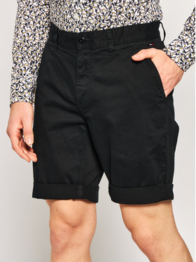 Tommy Jeans Tommy Jeans Pantaloncini di tessuto Tjm Essential Chino DM0DM05444 Nero Regular Fit