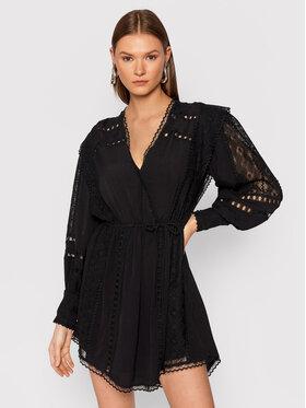 IRO IRO Koktejlové šaty Cassie AP541 Čierna Regular Fit