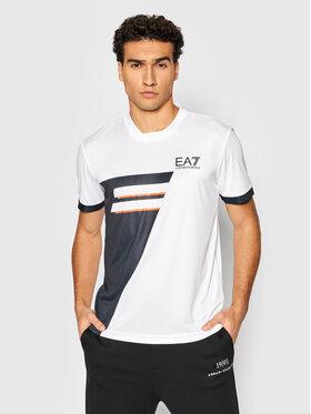 EA7 Emporio Armani EA7 Emporio Armani Technisches T-Shirt 6KPT42 PJCJZ 1100 Weiß Regular Fit