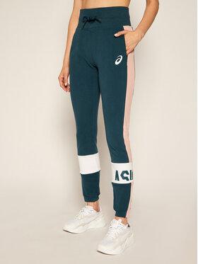 Asics Asics Teplákové nohavice Colorblock 2032B692 Modrá Slim Fit