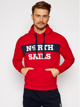 North Sails North Sails Mikina Graphic 691554 Červená Regular Fit