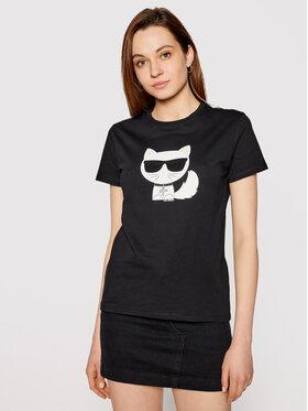 KARL LAGERFELD KARL LAGERFELD T-shirt Ikonik Choupette 210W1723 Noir Regular Fit