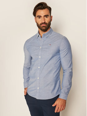 Tommy Jeans Tommy Jeans Πουκάμισο Oxford DM0DM09594 Μπλε Slim Fit