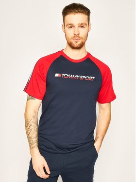 Tommy Sport Tommy Sport T-shirt Logo S20S200196 Blu scuro Regular Fit