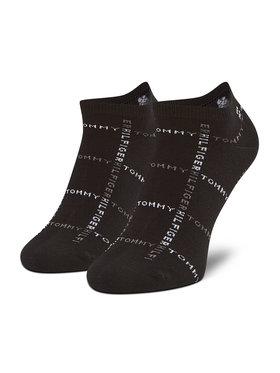 Tommy Hilfiger Tommy Hilfiger Sada 2 párů pánských nízkých ponožek 100002658 Černá