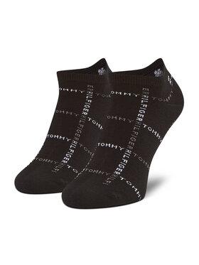Tommy Hilfiger Tommy Hilfiger Súprava 2 párov členkových pánskych ponožiek 100002658 Čierna