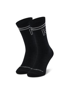 KARL LAGERFELD KARL LAGERFELD Vysoké pánske ponožky 805506 Čierna