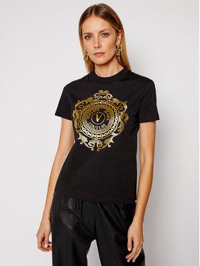 Versace Jeans Couture Versace Jeans Couture Marškinėliai B2HWA7FA Juoda Regular Fit