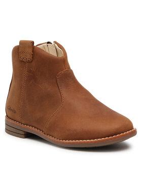 Clarks Clarks Kotníková obuv Drew North T 261537247 Hnědá