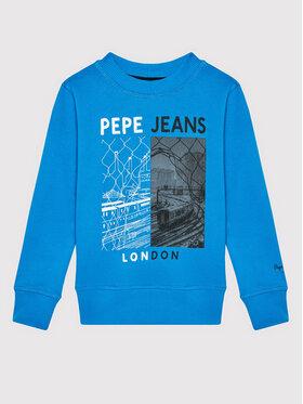 Pepe Jeans Pepe Jeans Bluza Jonas PB581357 Niebieski Regular Fit