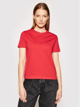 Calvin Klein Calvin Klein Tricou Small Logo Embroidered K20K202021 Roșu Regular Fit