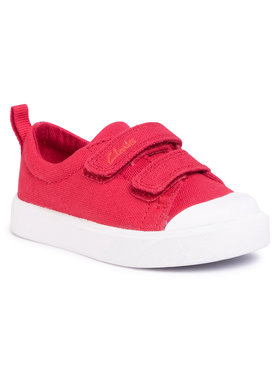 Clarks Clarks Sneakers aus Stoff City Bright T 261490927 Rot