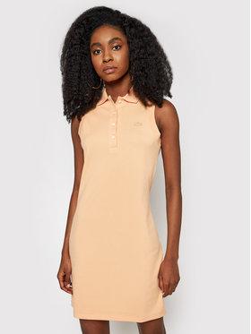 Lacoste Lacoste Kasdieninė suknelė EF1353 Oranžinė Slim Fit