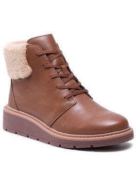 Clarks Clarks Členková obuv Leighly Lace 261600714 Hnedá