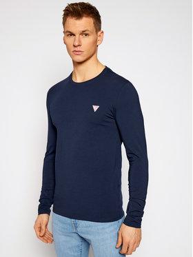 Guess Guess Marškinėliai ilgomis rankovėmis M1RI28 J1311 Tamsiai mėlyna Super Slim Fit