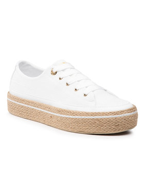 Tommy Hilfiger Tommy Hilfiger Εσπαντρίγιες White Sunset Vulc Sneaker FW0FW05734 Λευκό