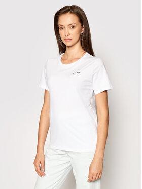 NA-KD NA-KD T-Shirt 1044-000097-0001-003 Biały Regular Fit