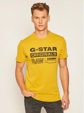 G-Star Raw G-Star Raw T-Shirt Wavy Logo D17838-B353-5164 Żółty Regular Fit