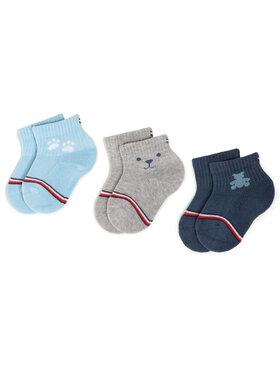 Tommy Hilfiger Tommy Hilfiger Set di 3 paia di calzini lunghi da bambini 100000802 Blu