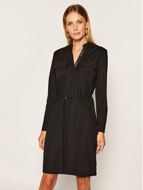 Calvin Klein Calvin Klein Плетена рокля Ls Jersey K20K202191 Черен Regular Fit