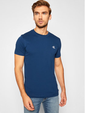 Calvin Klein Jeans Calvin Klein Jeans T-Shirt Essential J30J314544 Dunkelblau Slim Fit
