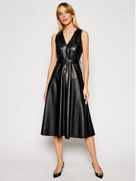 Marella Marella Kožené šaty Crizia 32210511 Černá Regular Fit