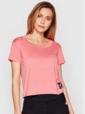 Asics Asics Techniniai marškinėliai Sakura Ss Crop 2012B945 Rožinė Regular Fit