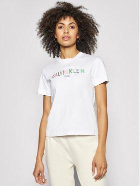 Calvin Klein Jeans Calvin Klein Jeans T-shirt J20J215487 Blanc Regular Fit