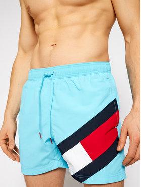 Tommy Hilfiger Tommy Hilfiger Szorty kąpielowe Sf Medium Drawstring UM0UM02048 Niebieski Slim Fit