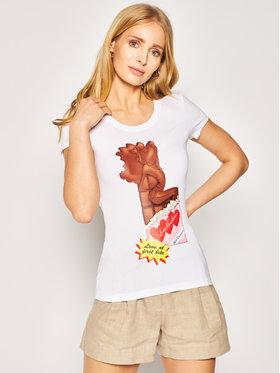 LOVE MOSCHINO LOVE MOSCHINO T-shirt W4B195IE 1698 Bianco Slim Fit