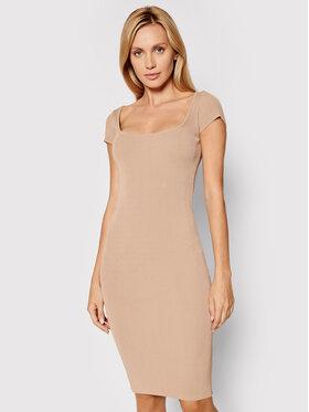 Guess Guess Úpletové šaty Charlotte W1YK85 Z2U00 Béžová Slim Fit