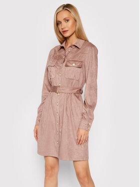 Guess Guess Sukienka koszulowa Dora W1BK13 WE5D0 Różowy Slim Fit