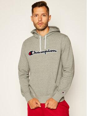 Champion Champion Bluza Satin Script Logo 214183 Szary Comfort Fit