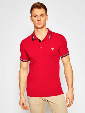 Guess Guess Polo M1RP66 J1311 Czerwony Extra Slim Fit