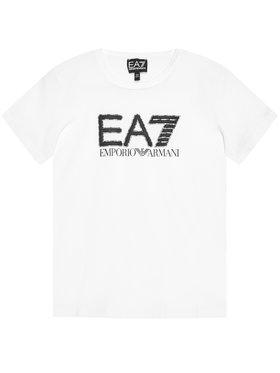 EA7 Emporio Armani EA7 Emporio Armani T-Shirt 3KBT53 BJ02Z 1100 Biały Regular Fit