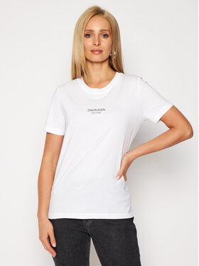 Calvin Klein Calvin Klein Тишърт Print Logo K20K202364 Бял Regular Fit