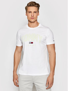 Tommy Jeans Tommy Jeans Тишърт Tjm Shadow Print Tee DM0DM10226 Бял Regular Fit