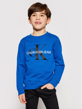 Calvin Klein Jeans Calvin Klein Jeans Bluza Monogram Logo IU0IU00069 Granatowy Regular Fit
