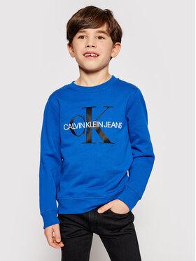 Calvin Klein Jeans Calvin Klein Jeans Mikina Monogram Logo IU0IU00069 Tmavomodrá Regular Fit