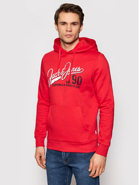 Jack&Jones Jack&Jones Mikina Logo Sweat 12172349 Červená Regular Fit
