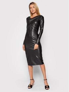 Patrizia Pepe Patrizia Pepe Sukienka z imitacji skóry 2A2250/A1WB-K103 Czarny Slim Fit