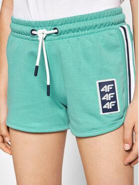 4F 4F Pantaloni scurți sport HJL21-JSKDD001A Verde Regular Fit