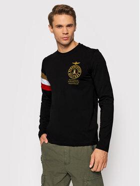Aeronautica Militare Aeronautica Militare Тениска с дълъг ръкав 212TS1891J469 Черен Regular Fit