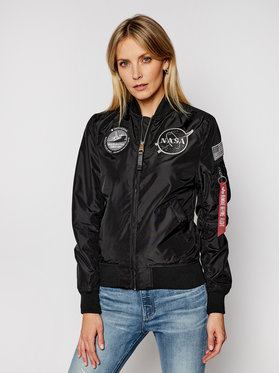 Alpha Industries Alpha Industries Bunda bomber Ma-1 Tt Nasa 186022 Černá Regular Fit